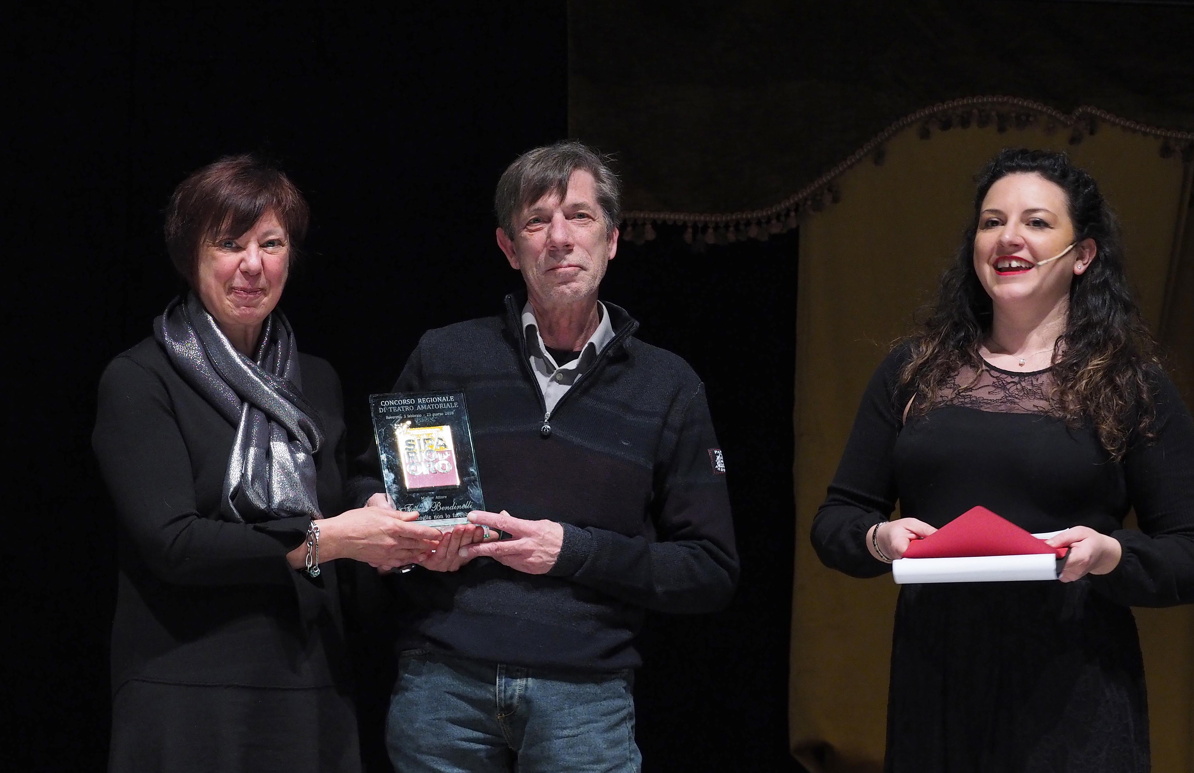 Miglior Attore - Regionale - Fabio Bendinelli della Compagnia Teatrale La Baraca di Martignano