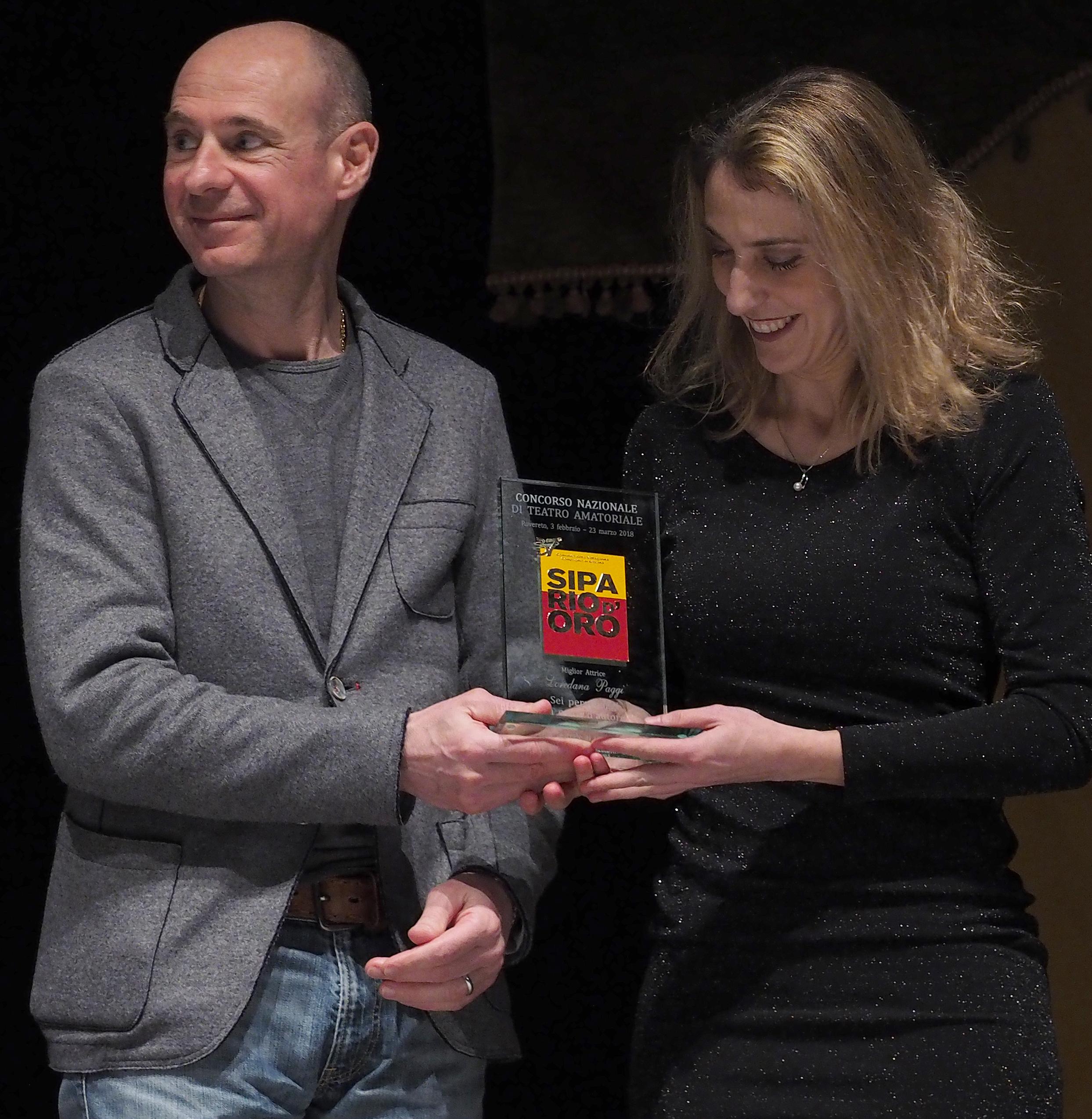 Miglior Attrice - Nazionale - Loredana Paggi della Compagnia al Castello di Foligno