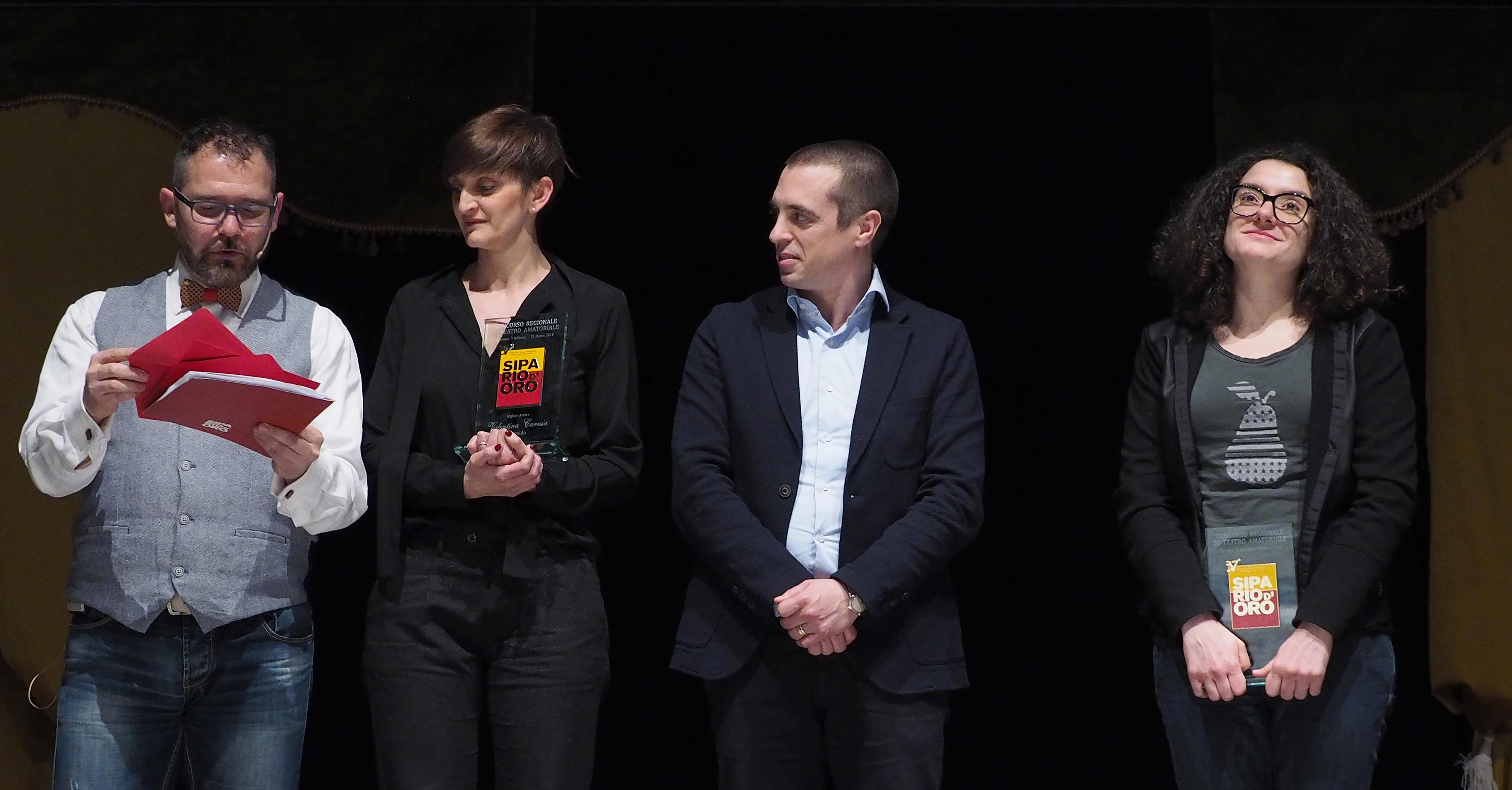 Migliori Attrici ex aequo - Regionale - Valentina Caresia Filo S.Martino e  Francesca Guardino della Compagnia G.Modena