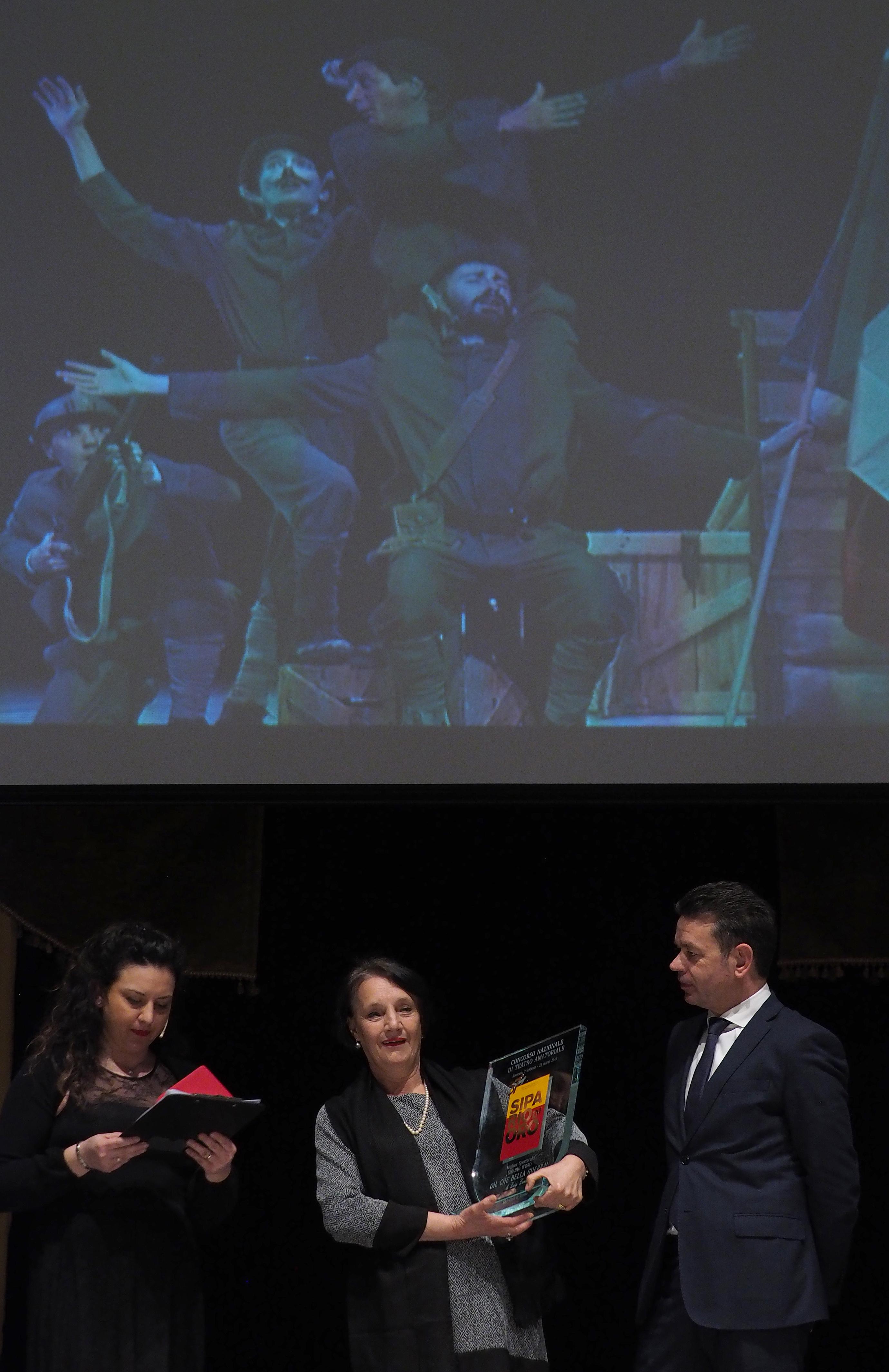 Miglior spettacolo - Nazionale - Oh che bella guerra! del GAD Città di Trento